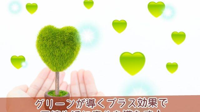 同棲生活に幸せを満たすグリーンのプラス効果