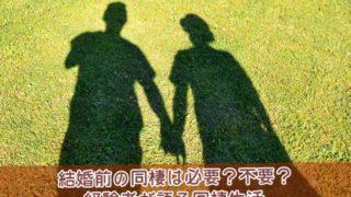 結婚前の同棲は必要か不要か経験者が語る同棲生活