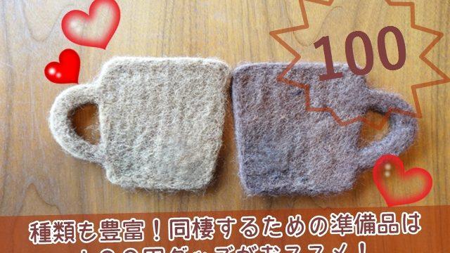 同棲の準備は100円グッズがおススメ